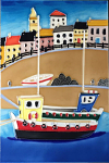 Ceramic Art Tile - My Harbour 8in x 12in