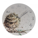 Wrendale Designs - Wall Clock 30cm - Owl
