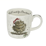 Royal Worcester Wrendale Designs - Mug - Owl I Want For Christmas