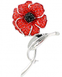 Poppy Brooch - Large on Stem