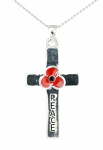 Poppy Pendant - Peace Cross