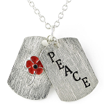 Poppy Pendant - Poppy Peace Dog Tags