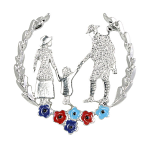 SSAFA Poppy Brooch - Soldier in Wreath SSAFA Colours