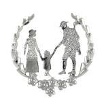 SSAFA Poppy Brooch - Soldier in Wreath Plain Rhodium