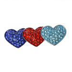 SSAFA Brooch - 3 Hearts in SSAFA Colours
