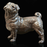 Richard Cooper - Bronze Pancake the Pug by Grant Palmer
