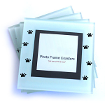Set of 4 Photo Frame Coasters - Paw