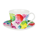 Roy Kirkham Lucy Breakfast Cup & Saucer - Planets