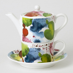 Roy Kirkham Tea for One - Planets Teapot and Tea Cup & Saucer