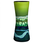 Poole Pottery Maya Tall Hourglass Vase 34cm