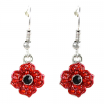 Poppy Earrings Drop - 4 Petal