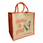 Jute Shopping Bag - Prosecco is Great