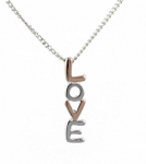 Rose Gold Pendant - LOVE