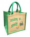 Jute Shopping Bag - Reading is Great