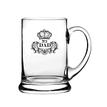 Royal Scot Crystal - Real Ale Beer Tankard Engraved NO.1 DAD