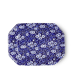 Burleigh Blue Calico Rectangular Platter 25cm or 10in