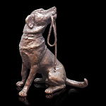 Bronze Labrador With Lead Medium - Limited Edition of 250