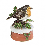 Craycombe Trinket Box - Robin Musical Box