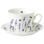 Roy Kirkham Breakfast Cup & Saucer - Bees with Lavender