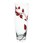 Nobile Glass Ruby Leaf 25cm Vase