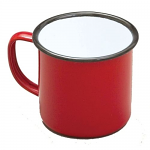 Falcon Enamel Mug (Red with Black Rim)