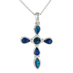 Paua Shell Pendant - Cross