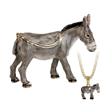 Arora Hidden Treasures Secrets - Donkey Trinket Box