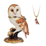 Arora Hidden Treasures Secrets - Barn Owl Trinket Box