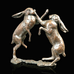 Bronze Hares Boxing Small - Limited Edition of 350