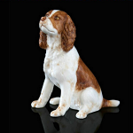 Fine Bone China Springer Spaniel Miniature by Keith Sherwin