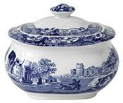 Spode Blue Italian - Sugar Box Medium