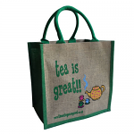 Jute Shopping Bag - Tea is Great