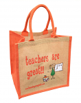 Jute Shopping Bag - Teachers are Great