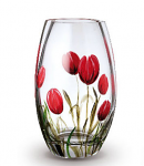 Nobile Glass Tulips Round Vase 20cm 2036-20