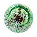 Caithness Glass Paperweight Busy Bees - Bee on a Flower