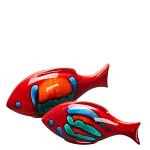 Poole Pottery Volcano Fish Pair - Gift Boxed