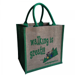 Jute Shopping Bag - Walking is Great