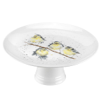 Royal Worcester Wrendale Designs - Footed Cake Stand Blue Tits