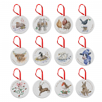 Royal Worcester Wrendale Designs - 12 Days of Christmas Decorations