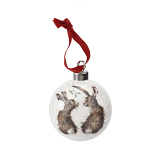 Royal Worcester Wrendale Designs - Christmas Decoration - All I Want for Christmas Hare