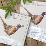 Wrendale Christmas Colours Set of 8 Luxury Boxed Christmas Cards