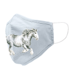 Wrendale Dapple Grey Horse Face Covering Mask