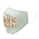 Wrendale Daisy Chain Baby Rabbits Face Covering Mask