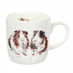 Royal Worcester Wrendale Designs - Mug - Guinea Pig - 'Lettuce Be Friends'