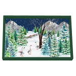 Michel Design Works - Christmas Snow Decoupage Wooden Vanity Tray