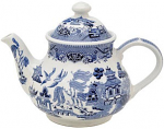 Churchill China Blue Willow Teapot (Georgian) 1200ml
