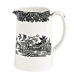 Burleigh Black Willow Tankard Jug Medium