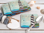 Sea View - Creative Tops  6 Premium Coasters