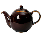 London Pottery Globe Teapot 6 Cup Rockingham Brown