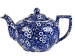 Burleigh Blue Calico Teapot Large 7 cups